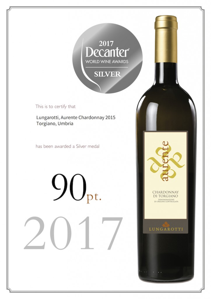 Aurente 2015 Silver medal Decanter World Wine Award