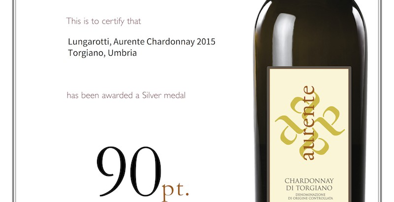 Aurente 2015 Silver medal Decanter World Wine Award